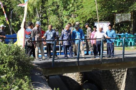 Bupati Bantul Kunjungi Jembatan Glagahan