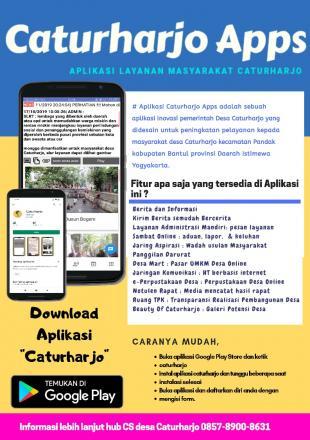 Desa Caturharjo Bertekad Menjadi Desa Digital 2021 melalui aplikasi android Caturharjo Apps