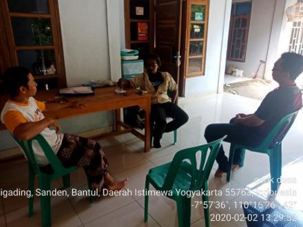 Pemdes Caturharjo Pandak Melakukan Monitoring Pembangunan Rks Di Gluntung Kidul