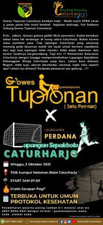 Gowes Tuponan Edisi Spesial The New Lapangan Caturharjo